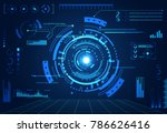 abstract technology ui... | Shutterstock .eps vector #786626416