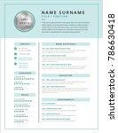 medical cv   resume template... | Shutterstock .eps vector #786630418