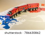 toy train connecting europa and ... | Shutterstock . vector #786630862