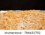 close up of raw handmade... | Shutterstock . vector #786631702