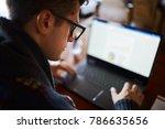 close back view of businessman... | Shutterstock . vector #786635656