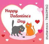 happy valentine's day. greeting ...   Shutterstock .eps vector #786639562