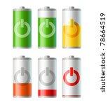 set of vector battery icons...   Shutterstock .eps vector #78664519