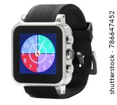 Black And Silver Smart Watch...