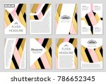 abstract vector layout... | Shutterstock .eps vector #786652345