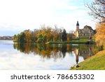 belarusian tourist landmark... | Shutterstock . vector #786653302