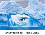 Large Arctic Iceberg With A...