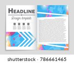 abstract vector layout... | Shutterstock .eps vector #786661465