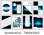 abstract vector layout... | Shutterstock .eps vector #786663562