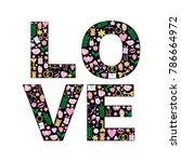greeting card for valentines... | Shutterstock .eps vector #786664972