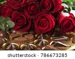 Vibrant Red Roses On A Box Of...