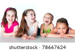 laughing small kids on a light... | Shutterstock . vector #78667624