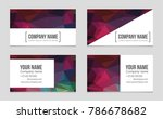 abstract vector layout... | Shutterstock .eps vector #786678682
