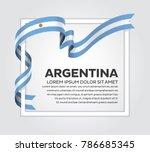 argentina flag background | Shutterstock .eps vector #786685345