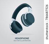headphone vector illustration. | Shutterstock .eps vector #786687526