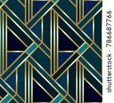 seamless geometric golden art...   Shutterstock .eps vector #786687766