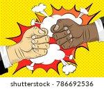 black life matters  the concept ... | Shutterstock .eps vector #786692536