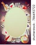alice in wonderland. playing... | Shutterstock .eps vector #786692722