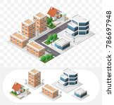 set of isolated high quality... | Shutterstock .eps vector #786697948