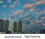 condominium balcony in sunset... | Shutterstock . vector #786704956