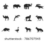 wild animal figures and shapes... | Shutterstock .eps vector #786707545