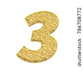 Cracked Gold Style Number Thre...