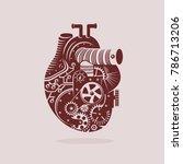 mechanical heart illustration...   Shutterstock .eps vector #786713206