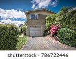 a beautiful house built on... | Shutterstock . vector #786722446
