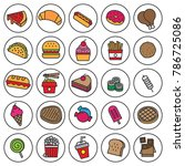 fast food line flat icon vector ... | Shutterstock .eps vector #786725086