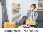 start up small business... | Shutterstock . vector #786735322