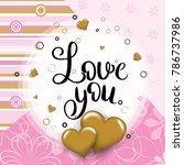 love you template for banner or ...   Shutterstock .eps vector #786737986