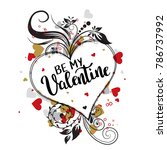 be my valentine template for...   Shutterstock .eps vector #786737992