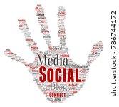 vector conceptual social media... | Shutterstock .eps vector #786744172