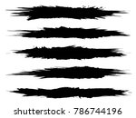 vector collection of artistic... | Shutterstock .eps vector #786744196