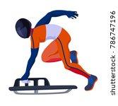 vector skeleton sportsman...   Shutterstock .eps vector #786747196