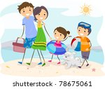 illustration of a family outing ... | Shutterstock .eps vector #78675061