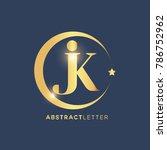 jk  logo design template.... | Shutterstock .eps vector #786752962