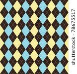 Seamless Tiled Argyle Patterne...