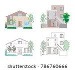 illustration of the house | Shutterstock .eps vector #786760666