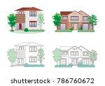 illustration of the house | Shutterstock .eps vector #786760672