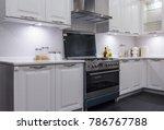 bright modern kitchen with... | Shutterstock . vector #786767788