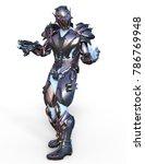 3d cg rendering of a robot | Shutterstock . vector #786769948