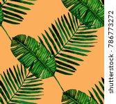 watercolor seamless pattern... | Shutterstock . vector #786773272