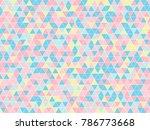 triangle random pastel color...   Shutterstock .eps vector #786773668
