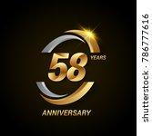 58 years anniversary...   Shutterstock .eps vector #786777616