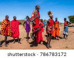 africa kenya. residents of the...