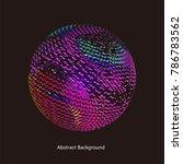 abstract vector background dot...   Shutterstock .eps vector #786783562