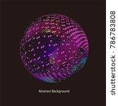 abstract vector background dot... | Shutterstock .eps vector #786783808