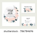 wedding card invitation | Shutterstock .eps vector #786784696