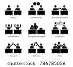 colleague and business partners ... | Shutterstock .eps vector #786785026